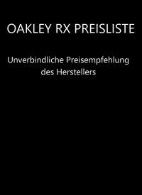 Oakley RX Preisliste